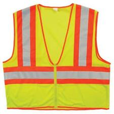 Choice SV2C3 ANSI 2 Dual Tone Zipper Reflective Surveyor Safety Vest Lime Orange
