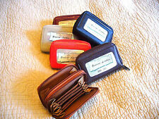 WOMEN SOFT LEATHER ACCORDION CREDIT CARD WALLET PURSE ID HOLDER COIN MONEY KEY