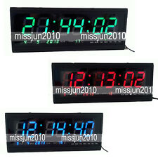 Modern 18.9'' X 7.3'' Digital Large Big Jumbo LED Wall Calendar Desk Clock djh
