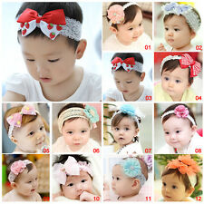 Multi-style Cute Baby Girl Infant Headband Bow Flower Headwear Hair Band Decor