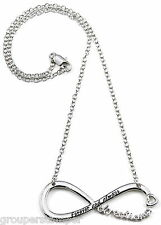 Directioner Necklace New Heart Style 18 Inch 3mm Infinity With Enamel Lettering