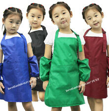New Kids Children Apron Painting Hotel Kitchen Cooking Waterproof Japanese style