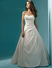 Stock Ivory/White Wedding Dress Bridal Gown US Size 4-6-8-10-12-14-16-18-20-22++