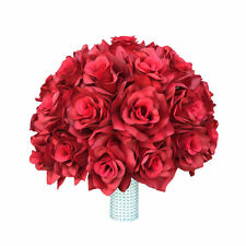 """10""""Rose bouquet-Select Rose Color from the list-WHITE RIBBON HANDLE"""