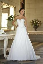 White/Ivory chiffon Bridesmaid Bridal Gown Wedding Dress Size 6+8+10+12+14+16+++