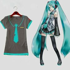 Vocaloid Hatsune Miku T Shirt Anime Cosplay Lady Tshirt Girls Summer Wear V+ NEW