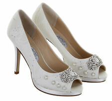 Diane Hassall Devotion Ivory Vintage Lace And Pearl Wedding Shoes UK3-UK8