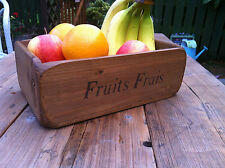 (NEW)~Farmhouse Wooden Fruit Baskets/Bowl French Stencils~Small~Medium~Large