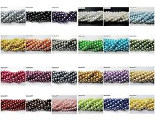 Wholesale Top Quality Czech Glass Pearl Round Beads 16'' 4mm 6mm 8mm 10mm 12mm