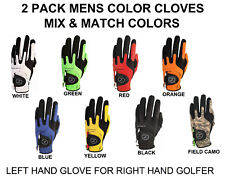 2 Pk Zero Friction Compression-Fit Golf Glove 7 Color One Size Fits All 2 Pack