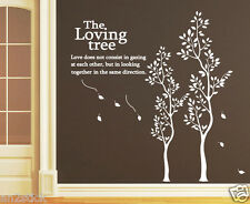 Two Beautiful Loving Tree ...Wall Quotes,HomeDecor,Wall Stickers,Wall Decals w52