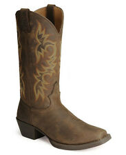 Mens Justin Square Toe Stampede Western Apache Cowboy Boots 2552