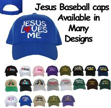 JESUS CHRISTIAN CATHOLIC BIBLE BASEBALL CAPS HATS VARIETY DESIGNS YOU CHOOSE
