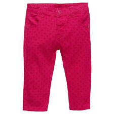 Baby Girls New With Tags Berry Spotted Pink Stretch Jeans/Pants - Size 3-18 Mths