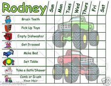Childrens Chore Charts with Chore Pictures, Girl and Boy Themes, Reusable