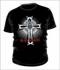 black sabbath cross logo t-shirt 100% cotton
