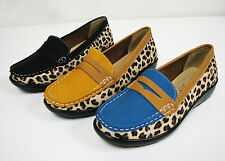 Women's Driving Loafers Fashion Leopard Colors Oxford Flats Moccasin Shoes Sizes