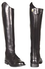 Ladies Back Zip Field Boots Faux Leather Riding Boots -  6 Sizes available NEW