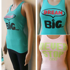 LORNA JANE1 Ladies GYM Yoga Singlet Tank SZ XS S M L XL 8 10 12 14 16 Multi Top