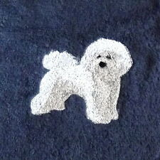 Bichon Frise Dog Embroidered Towels