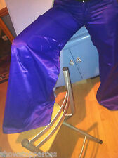 Trousers long flares FANCY DRESS assorted sizes colours satin 1970's DISCO hippy