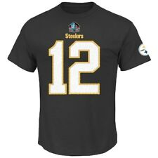 Terry Bradshaw Pittsburgh Steelers Majestic HOF Player T-Shirt - Black