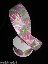 "Baby Boy Girl Gifts RIBBON METALLIC WIRED Shower Gift Party 1.5"" x 3' Yards"