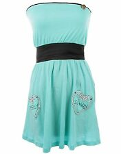 ABBEY DAWN HOLD FAST LADIES TURQUOISE DRESS (B6B)