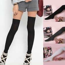 Fashion Long Socks Thigh Cotton Stockings Over Knee Hose Grey New Trendy Sexy