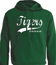 TIGERS It's in the Blood Retro Style Leicester Rugby T Shirt Jersey Hoodie
