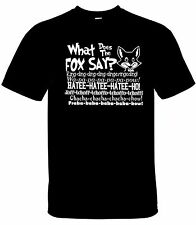 What does The Fox Say Shirt  tshirt FUNNY SONG - All Sizes!