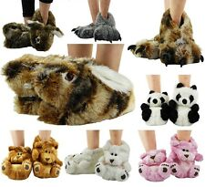 NEW LADIES MENS UNISEX NOVELTY FUNKY IDEAL GIFT WARM COMFY SLIPPERS SHOES SIZE