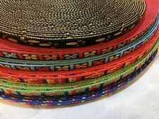 3/8'' (10mm) -Pattern (both sides) Heavy Nylon Webbing  -color and qty pick