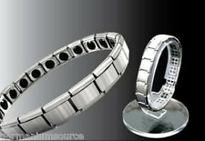 Titanium Bracelet Power Nano Energy Germanium Magnetic Balance Ion Silver COMBO