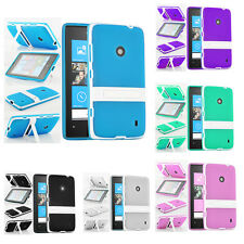 Accessories For The Nokia Lumia 520 520T Silicone Gel Stand Case Cover & Film UK