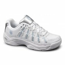 K-Swiss TEMION II Womens Ladies Leather Tennis Gym Running Shoes Trainers White