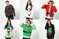 Mens Ladies Novelty Jumper Sweater Retro Christmas Xmas Rudolph Winter Fairisle