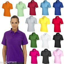 Ladies Polo Shirt Size UK 8 - 26 Plus Classic Fit Premium Pique Sports T Shirt