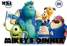 Monster Inc  Personalised  Water Resistant  Place Mat / Door Sign / Poster