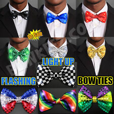 Light Up LED Flashing Blinking Bow Ties - Several Colors to Choose!
