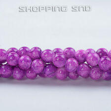 Top Quality! Czech Glass Round Loose Spacer Beads Abstract Colors  4mm-16mm DIY