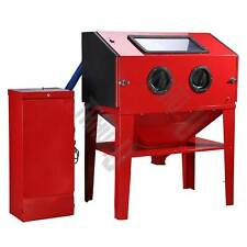 Sand Blaster Cabinet Blast Blasting Sandblasting 450L OPTION Dust collector