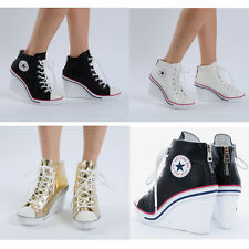 Wedges Trainers Heels Sneakers Platform High Top Ankles Boots Shoes 777 TC