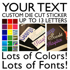 Your Custom Text - Personalized Vinyl Sticker - Die Cut Sports Name
