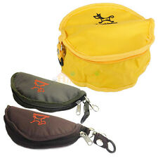 New Foldable Camping Travel Zipper Bowl for Pet Dog Cat Rabbit Water Food Feeder