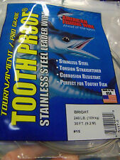 #15, 240 lb AFW TOOTH PROOF SINGLE STRAND WIRE-STAINLESS STEEL