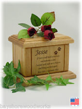Pet Urns for Dogs and Cats with Memorial Poem