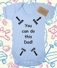 You Can Do This Dad (Personalised Baby Grow - Funny Baby Grow)