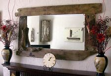 Large Overmantle Rustic  Driftwood Mirror