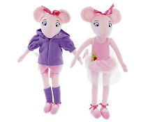 """17"""" /32cm Angelina Ballerina Doll Plush Soft Toy Genuine New Official TV Mouse"""